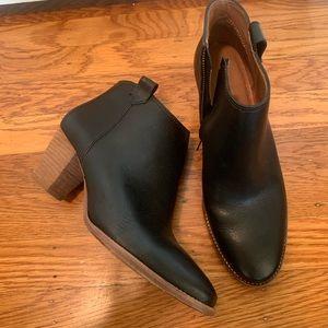Madewell Black Leather Billie Boot
